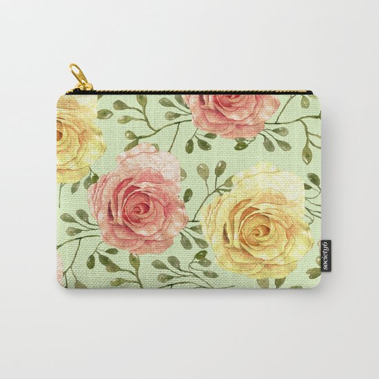 Watercolor Roses #6 Carry-All Pouch