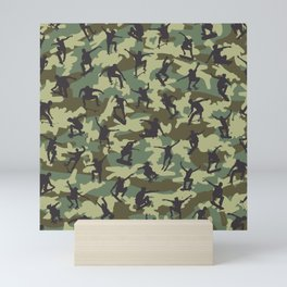 Skater Camo WOODLAND Mini Art Print