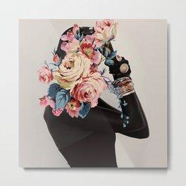Black of flowers Metal Print