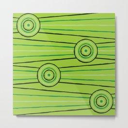 Rainforest Line Painting Metal Print