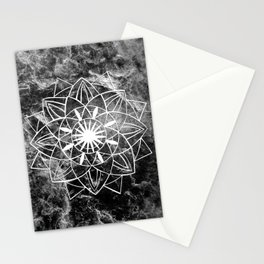 Star Mandala on Enigmatic Black Marble #1 #decor #art #society6 Stationery Cards