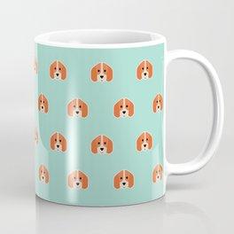 Beagle Foxhound Print Pattern on Mint Green Background Cute Dog Lover Scent Hound Coffee Mug