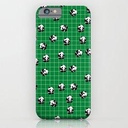 Cute Panda Print on Green Background iPhone Case