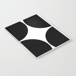 Mid Century Modern Black Square Notebook