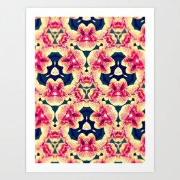 Kaleidoscope Orchids Art Print