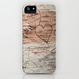 Love Memories in Lover's Lane, Green Gables iPhone Case