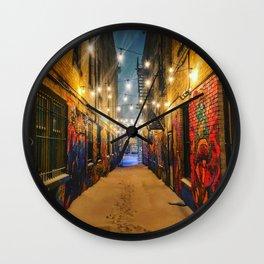 Winter Graffiti Wall Clock