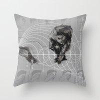 fibonacci Throw Pillows featuring Fibonacci by eglerama