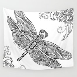 Fly with me through the wind, my dragonfly. Wall Tapestry