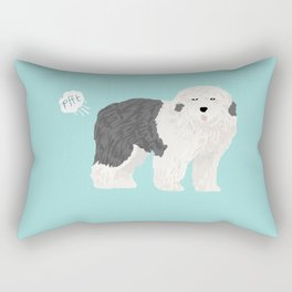 old english sheepdog farting dog cute funny dog gifts pure breed dogs Rectangular Pillow