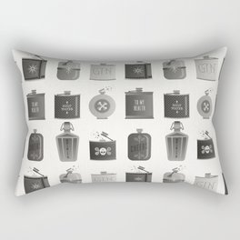 Flask Collection – Black Palette Rectangular Pillow