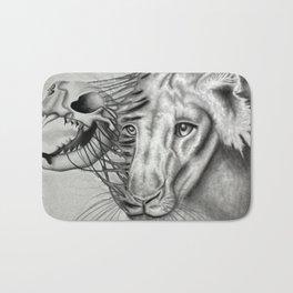 Lion Skeletal Portrait Bath Mat