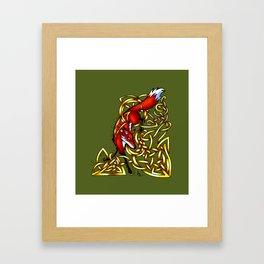 Diving Fox Framed Art Print