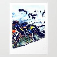 tour de france Art Prints featuring Le Tour de France by Stefan Lucut