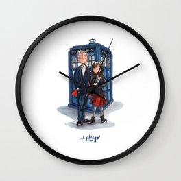 The Doctor & Clara Wall Clock