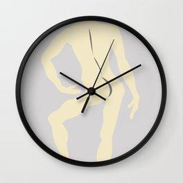 Male Nude Creme 12 Wall Clock