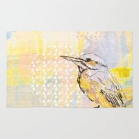 birdy Area & Throw Rugs featuring Birdy by Nett Designs