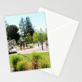 Splash Pad in Traverse City, Michigan Stationery Cards