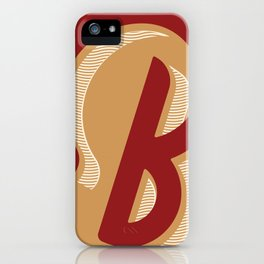 BOLD 'B' DROPCAP iPhone Case