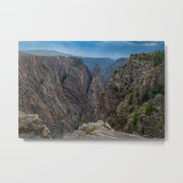 Storm Brewing at Cross Fissures View  at Black Canyon of the Gunnison Metal Print