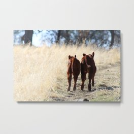 Best Buds Running Metal Print