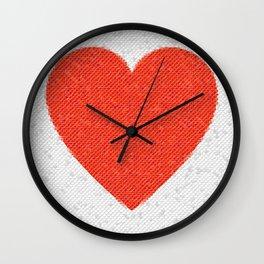 Heart Mosaic Octagons Wall Clock