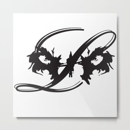 Lion Eyes Metal Print