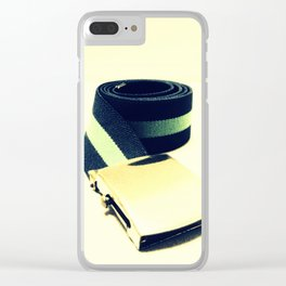 Retro Belt Clear iPhone Case