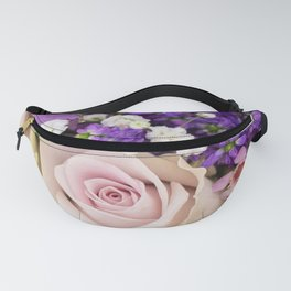 Roses and Violets Fanny Pack