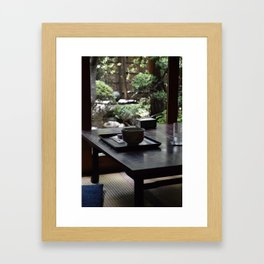 Matcha Green Tea In Old Japanese House Framed Art Print