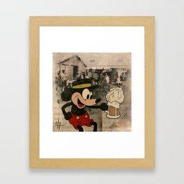 Barrel O' Laughs Framed Art Print