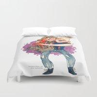 the goonies Duvet Covers featuring Goonies Hug by Super Group Hugs