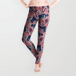 Papercut tulips Leggings