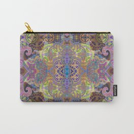 Friendship and Peacefulness Tibetan Inspired Boho Mandala Illustration Carry-All Pouch