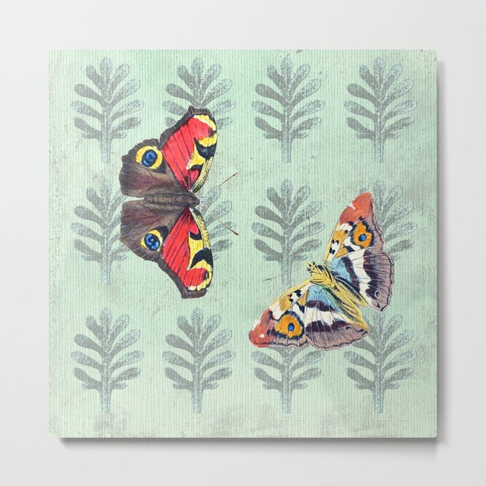 Summer's sojourn with butterflies Metal Print