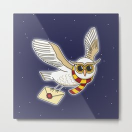 Owl Post Metal Print