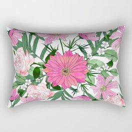 Boho chic garden floral design Rectangular Pillow