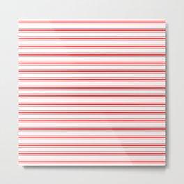 Wide Horizontal Australian Flag Red Mattress Ticking Bed Stripes Metal Print