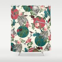 romantic Shower Curtains featuring Romantic Halloween by Paula Belle Flores