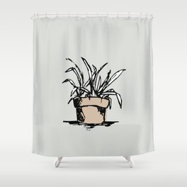 """Teacher's Plant"" from Grow Collection Shower Curtain"
