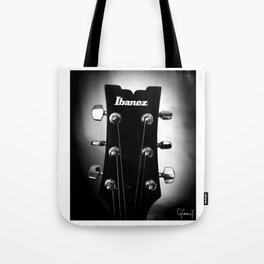 VINTAGE ACOUSTIC GUITAR HEAD #2 B&W PHOTOGRAPHY Tote Bag