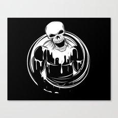 Skeleton Wrestler Canvas Print
