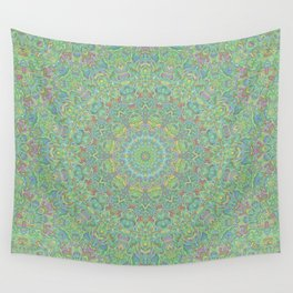 Funky Psychedelic Colorful Hippie Boho Mandala 3 Wall Tapestry