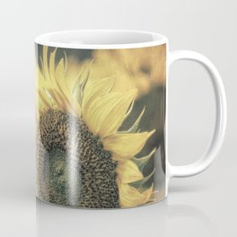 Sunflower Field Bumble Bee A417 Coffee Mug