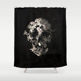 Spring Skull Monochrome Shower Curtain