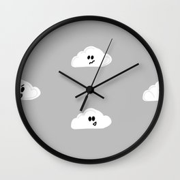 Clouds with faces Wall Clock