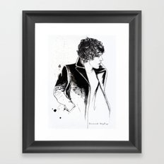 Harry coat sketch Framed Art Print