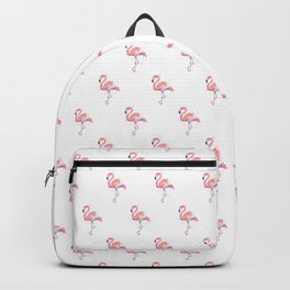 Two Flamingos Watercolor Tropical Birds Animals Backpack