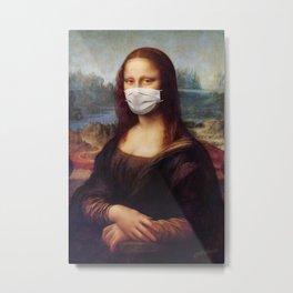 Mona Mask Metal Print