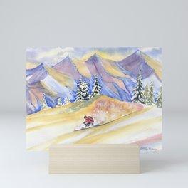 Powder Skiing Art Mini Art Print